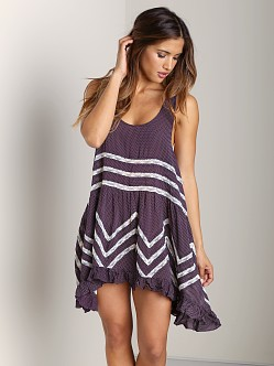 Free People Voile Trapeze Slip Eggplant