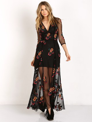 For Love & Lemons Elenora Maxi Dress Black