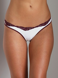 Only Hearts Delicious With Lace Thong Creme Port