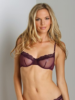 Only Hearts Whisper Underwire with Lace Bra Plum