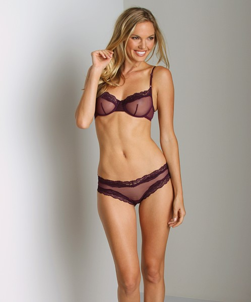 Only Hearts Whisper with Lace Brazilian Bikini Plum