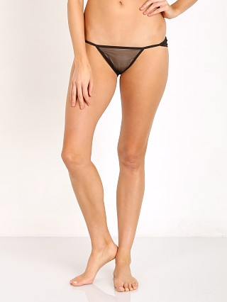 Only Hearts Whisper with Lace String Bikini Black
