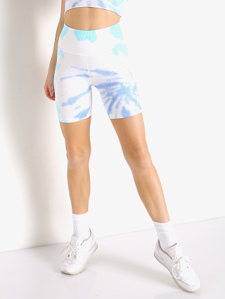 Model in aruba tie dye Spiritual Gangster Bike Short