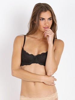 Montelle Coquette Demi Lace Bra Black Night
