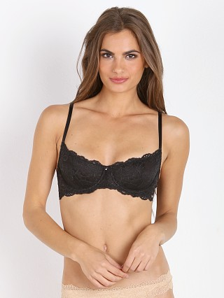 Montelle Intimates Coquette Demi Lace Bra Black Night