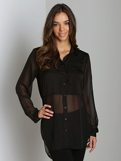 Free People The Best of Both Worlds Shirt Black
