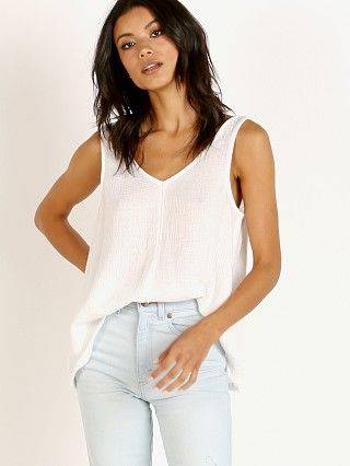 Splendid V Neck Tank White