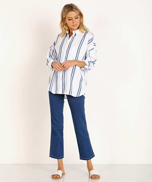 Wrangler Oversized Shirt Turkish Sea