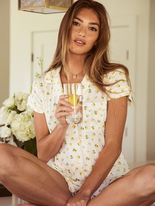Eberjey Dianna Short PJ Set Lemon