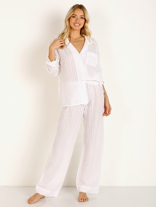 You may also like: Eberjey Paz Breezy Long PJ Set White
