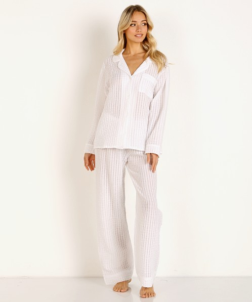 Eberjey Paz Breezy Long Pj Set White