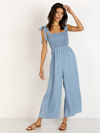 Model in chambray Show Me Your Mumu Parton Playsuit Anchor