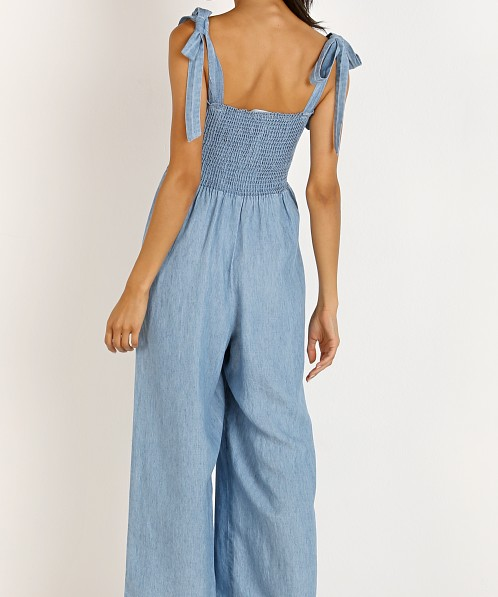 Show Me Your Mumu Parton Playsuit Anchor Chambray