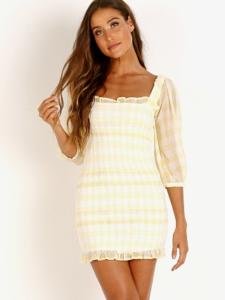 Capulet Siobhan Smocked Dress Sheer Lemon Gingham