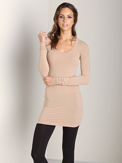 Splendid Layers Long Sleeve Top Camel