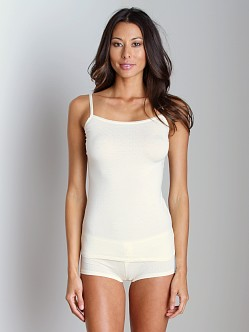 Splendid Intimates Pointelle Tank and Boy Short Butter