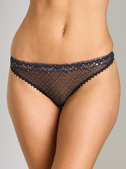 Stella McCartney Emilie Peeking Thong Dark Ink