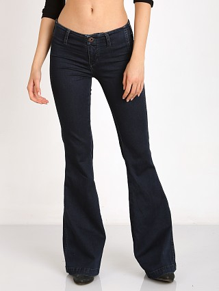Free People Jolene Clean Denim Flare Perfect Navy