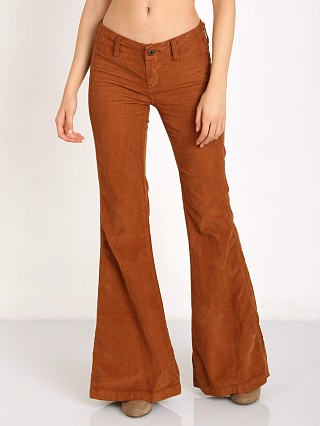 Free People Jolene Clean Cord Flare Copper Oxide