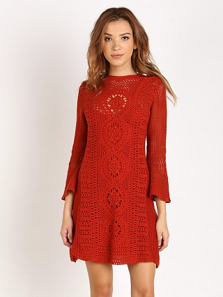 Free People Rosalind Swit Dress Burnt Orange
