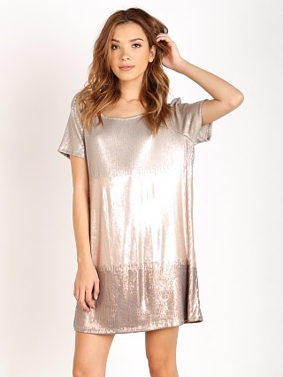Free People Drenched in Sequins Dress Rosegold