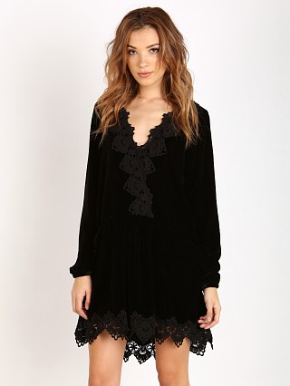 Free People Premiere Velvet Dreams Tunic Dress Black