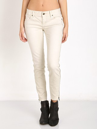 Free People Levon Zipper Skinny Bone