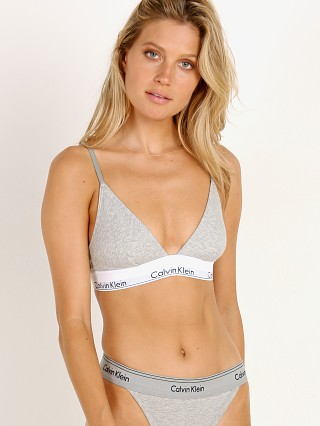 Complete the look: Calvin Klein Modern Cotton Unlined Triangle Bra Grey Heather