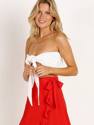 Show Me Your Mumu Kenny Scarf Top White Beach Comb