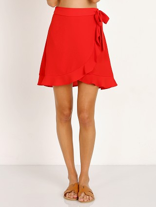 Show Me Your Mumu Roam Ruffle Skirt Tomato Red Peddle