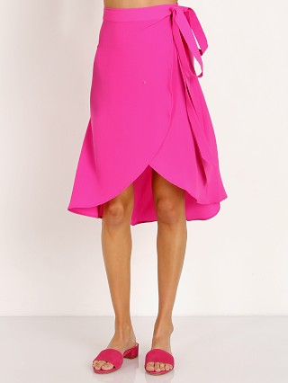 Show Me Your Mumu Panama Wrap Skirt Hot Pink
