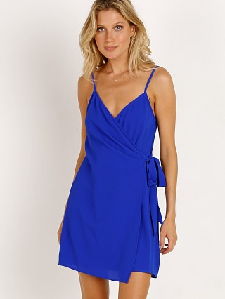Show Me Your Mumu Say Jay Wrap Dress Royal Blue Peddle