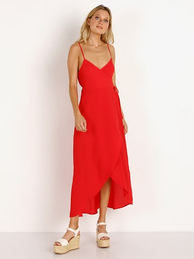 Show Me Your Mumu Meghan Wrap Dress Tomato Red Peddle