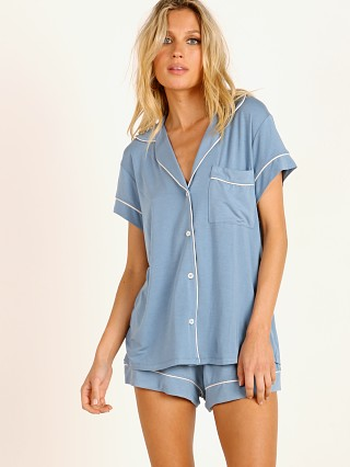 Eberjey Gisele Short PJ Set Blue Shadow/Blush