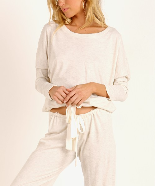 Eberjey Heather Slouchy Top Oatmeal