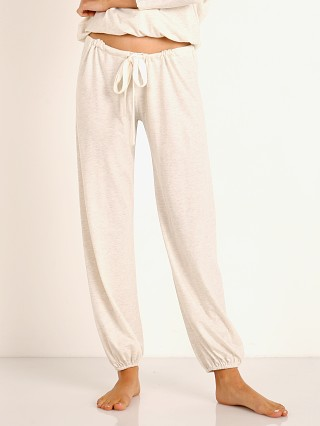 Eberjey Heather Cropped Pant Oatmeal