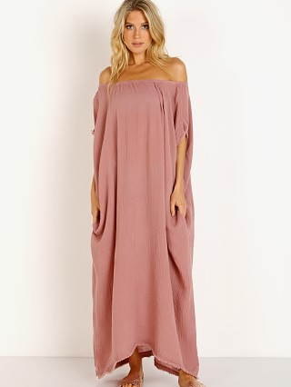 9Seed Moonstone Off Shoulder Caftan Berry