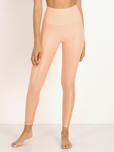 Beyond Yoga Drip Dot High Waisted Midi Legging Coral Dust + Rose