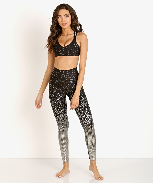 Beyond Yoga Drip Dot High Waisted Midi Legging Black + Antique G