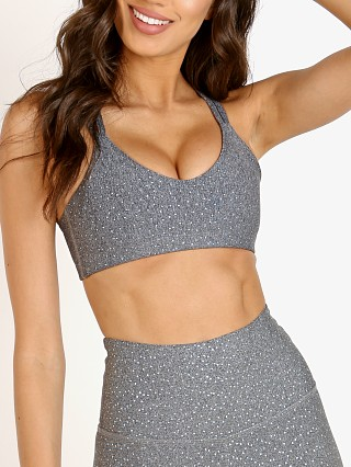 Beyond Yoga Drip Dot Bra Black + White Silver
