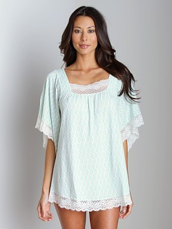 Eberjey Tribal Goddess Tunic Aqua
