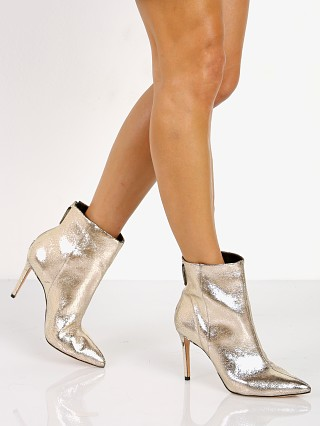 Schutz Ginny Gold Ankle Boot