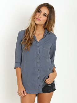 Bella Dahl Boyfriend Shirt Thunder Grey