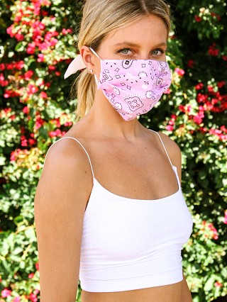 Largo Drive Fashion Face Mask Bandana Print Pink