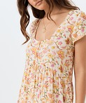 Spell Portobello Road Babydoll Midi Dress Honey Dew, view 2