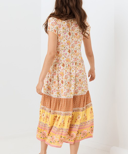 Spell Portobello Road Babydoll Midi Dress Honey Dew