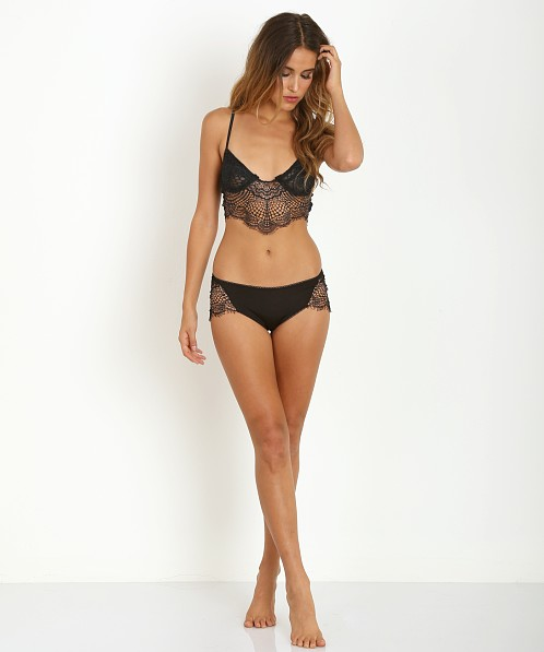 SKIVVIES by For Love & Lemons Bat Your Lashes Cheeky Panty Black