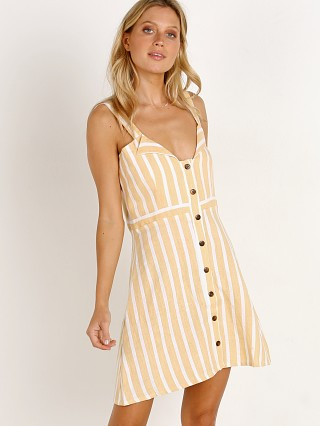 Faithfull the Brand Le Petite Dress Mazur Stripe Lemon