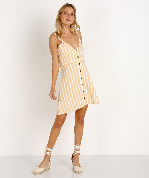 4feec1e65b Faithfull the Brand Le Petite Dress Mazur Stripe Lemon FF1155-MSL - Free  Shipping at Largo Drive