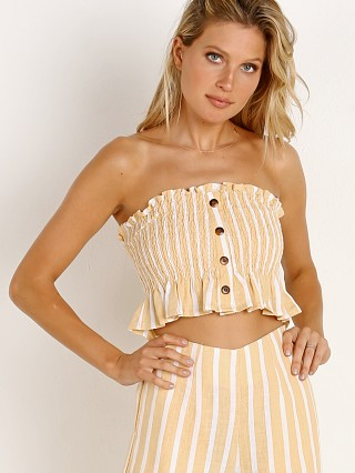 Faithfull the Brand Sloane Top Mazur Stripe Lemon